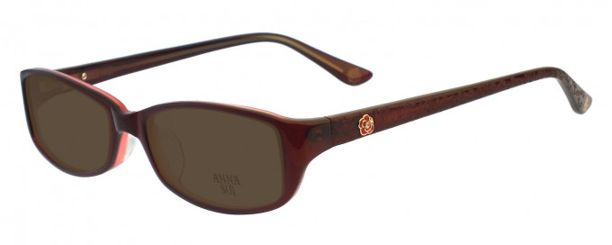 Anna Sui AS571 Sunglasses in Burgundy