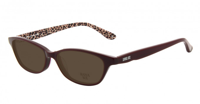Anna Sui AS594 Sunglasses in Burgundy