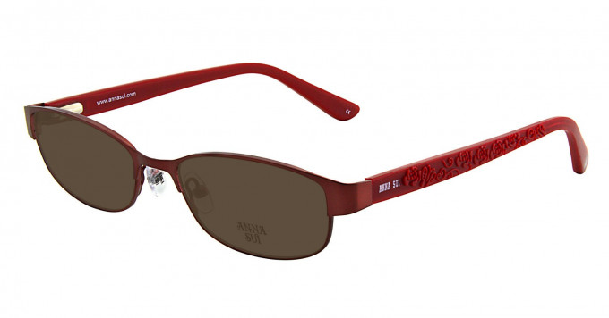 Anna Sui AS209 Sunglasses in Red