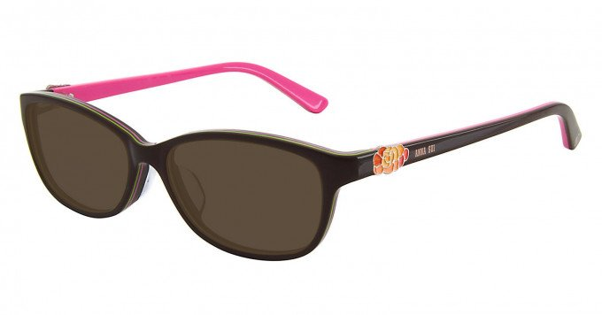 Anna Sui AS605 Sunglasses in Brown