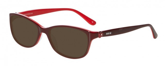 Anna Sui AS610 Sunglasses in Burgundy