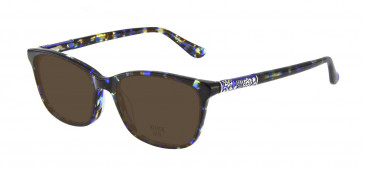 Anna Sui AS658 Sunglasses in Blue/Tortoise