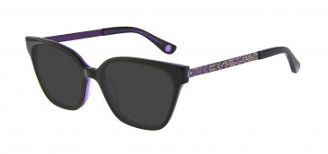 Anna Sui AS659A Sunglasses in Black/Purple