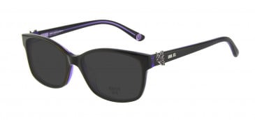 Anna Sui AS662A Sunglasses in Black/Purple