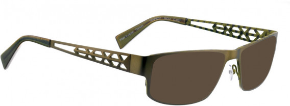 BELLINGER TRAPEZ-2 sunglasses in Olive Green