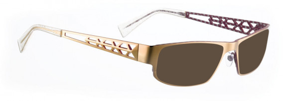 BELLINGER TRAPEZ-1 sunglasses in Shiny Gold