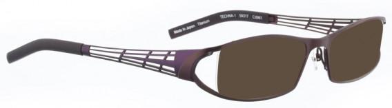 BELLINGER TECHNA-1 sunglasses in Aubergine