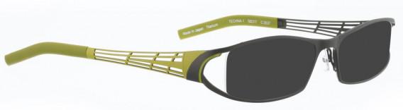 BELLINGER TECHNA-1 sunglasses in Olive Green