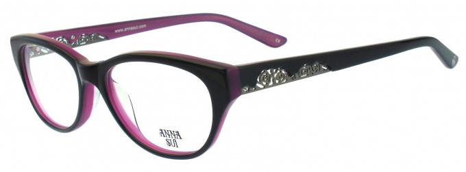 Anna Sui AS570 Glasses in Brown Horn