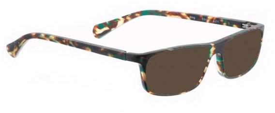 BELLINGER STING sunglasses in Matt Brown/Green Pattern