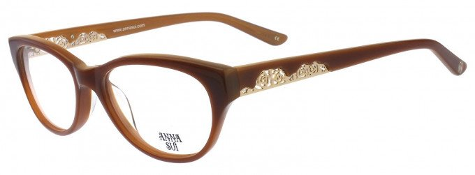 Anna Sui AS570 Glasses in Purple Horn
