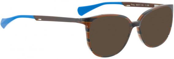 BELLINGER SNUG sunglasses in Brown Pattern