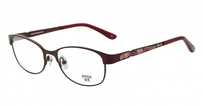Anna Sui AS203 Glasses in Burgundy
