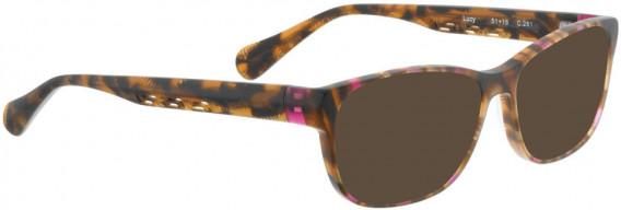 BELLINGER LUCY-52 sunglasses in Matt Brown/Pink Pattern