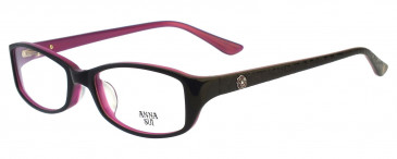 Anna Sui AS571 Glasses in Burgundy/Pink