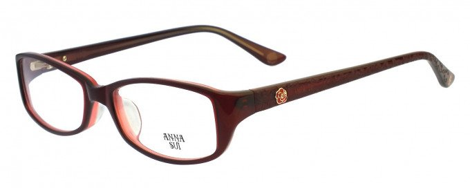 Anna Sui AS571 Glasses in Burgundy
