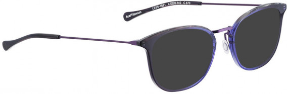BELLINGER LESS1891 sunglasses in Purple Transparent