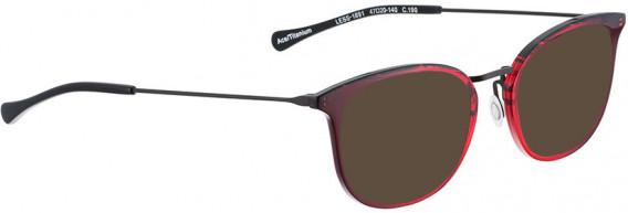 BELLINGER LESS1891 sunglasses in Red Transparent