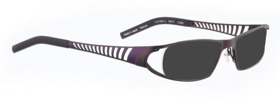 BELLINGER FUTURA-2 sunglasses in Aubergine