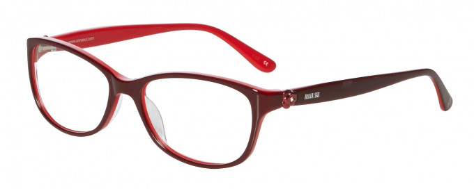 Anna Sui AS610 Glasses in Burgundy