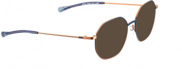BELLINGER BOLD-X sunglasses in Rose Gold