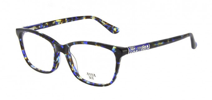 Anna Sui AS658 Glasses in Blue/Tortoise
