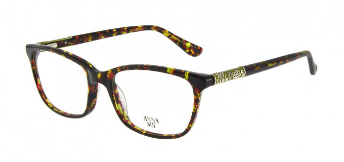 Anna Sui AS658 Glasses in Olive/Tortoise