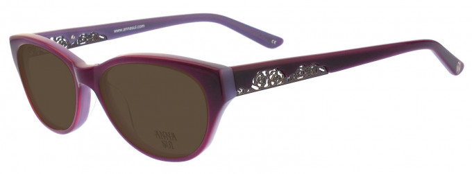 Anna Sui AS196 Sunglasses in Grey Horn