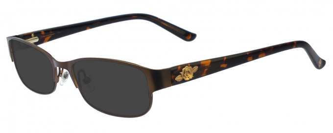 Anna Sui AS196 Sunglasses in Brown Horn