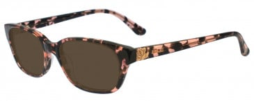 Anna Sui AS564 Sunglasses in Pink/Tortoise