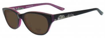 Anna Sui AS570 Sunglasses in Brown Horn