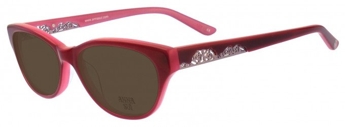 Anna Sui AS570 Sunglasses in Red/Pink