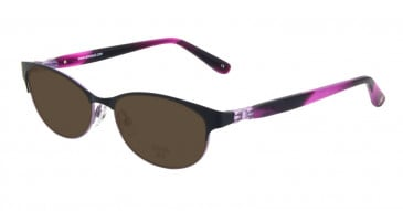 Anna Sui AS201 Sunglasses in Black/Purple