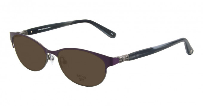 Anna Sui AS201 Sunglasses in Purple/Gunmetal