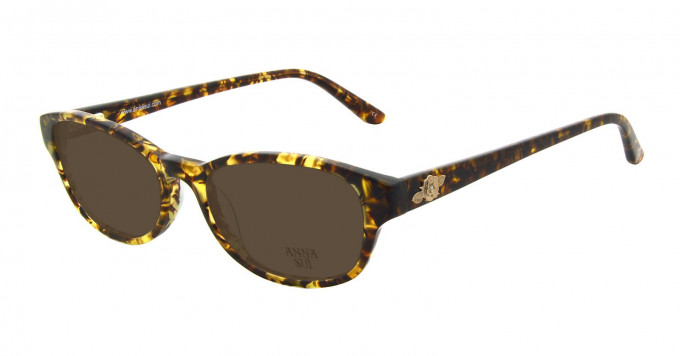 Anna Sui AS593 Sunglasses in Brown