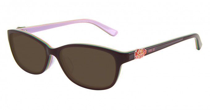 Anna Sui AS605 Sunglasses in Burgundy