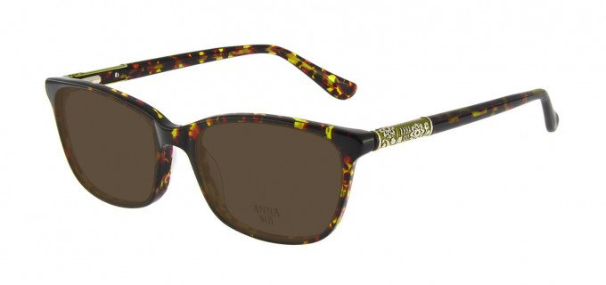 Anna Sui AS658 Sunglasses in Olive/Tortoise