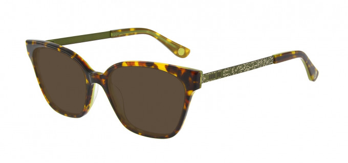Anna Sui AS659A Sunglasses in Tortoise/Green