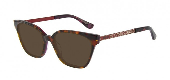Anna Sui AS659A Sunglasses in Tortoise/Burgundy