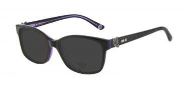 Anna Sui AS662A Sunglasses in Black/Purple