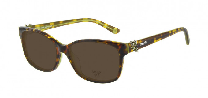 Anna Sui AS662A Sunglasses in Tortoise/Green
