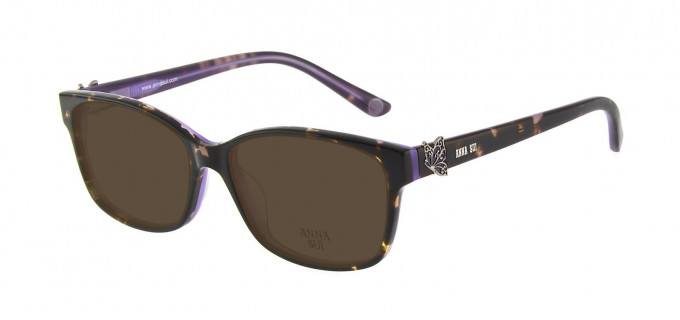 Anna Sui AS662A Sunglasses in Tortoise/Purple
