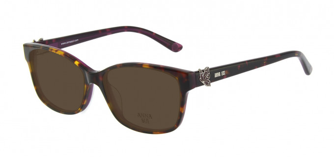 Anna Sui AS662A Sunglasses in Tortoise/Burgundy