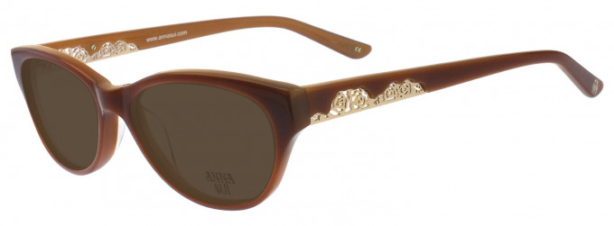 Anna Sui AS570 Sunglasses in Purple Horn