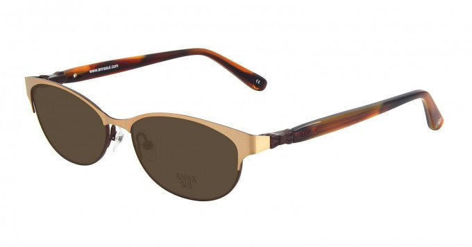 Anna Sui AS201 Sunglasses in Brown/Light Brown