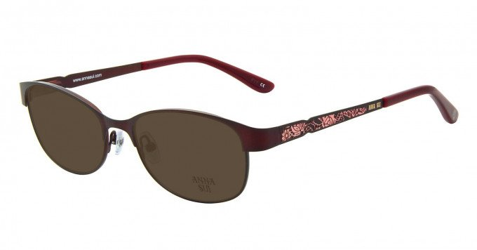 Anna Sui AS203 Sunglasses in Burgundy