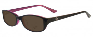 Anna Sui AS571 Sunglasses in Burgundy/Pink