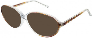 Matrix 818-55 sunglasses in Brown and Crystal