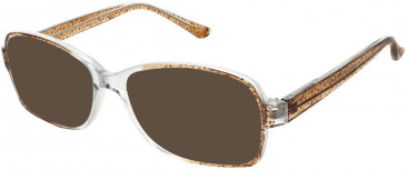 Matrix 817-51 sunglasses in Brown and Crystal