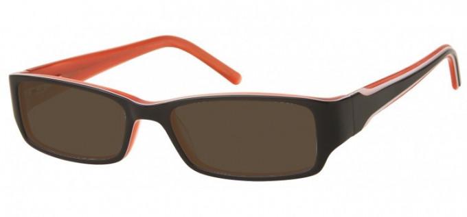Sunglasses in Black/Orange